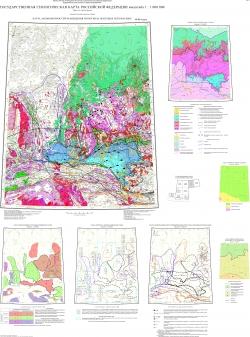 O-51 (Алдан) Государственная геологическая карта Российской Федерации. Третье поколение. Алдано-Забайкальская серия. Карта закономерностей размещения и прогноза полезных ископаемых