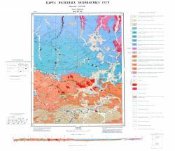 O-51-XXVII. Карта полезных ископаемых СССР. Серия Алданская.