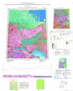 O-52 (Томмот) Государственная геологическая карта Российской Федерации. Третье поколение. Алдано-Забайкальская серия. Геологическая карта дочетвертичных образований