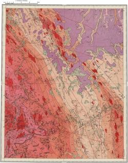O-52-XIV. Геологическая карта СССР. Алданская серия