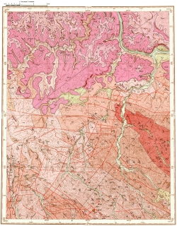 O-52-XV. Геологическая карта СССР. Алданская серия