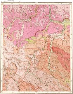O-52-XV. Карта полезных ископаемых СССР. Алданская серия