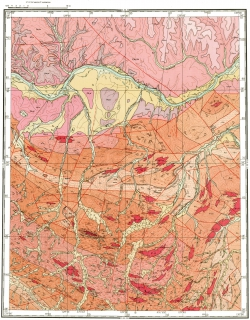 O-52-XVI. Геологическая карта СССР. Алданская серия