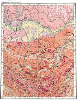 O-52-XVI. Карта полезных ископаемых СССР. Алданская серия