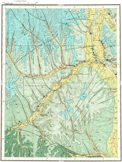 O-53-III. Геологическая карта СССР. Майская серия