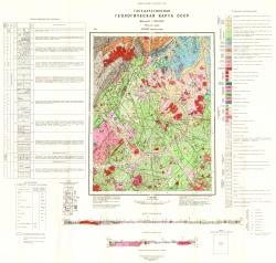 O-54-II (верховья р. Мая). Государственная геологическая карта СССР. Майская серия