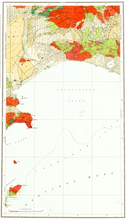 O-55-VI,XII. Геологическая карта СССР. Магаданская серия
