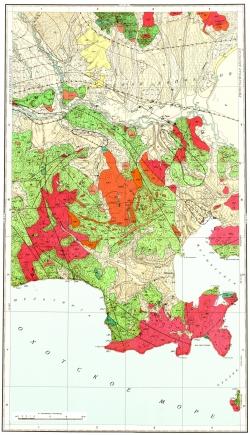 O-55-V,XI. Геологическая карта СССР. Магаданская серия