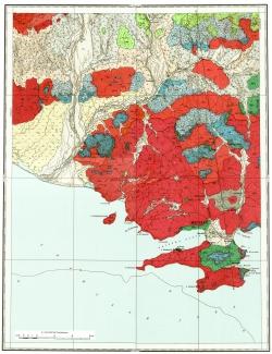 O-56-I. Геологическая карта СССР. Магаданская серия