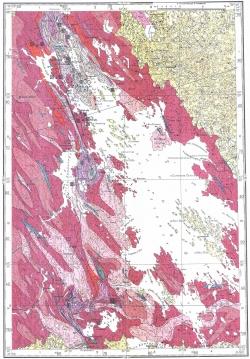 P-36-V. Геологическая карта СССР. Карта полезных ископаемых. Карельская серия