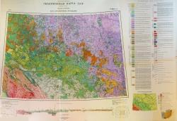 P-46,47 (Байкит). Геологическая карта СССР (новая серия). Карта дочетвертичных отложений