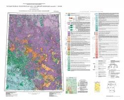 P-47 (Байкит) Государственная геологическая карта Российской Федерации. Третье поколение. Ангаро-Енисейская серия. Геологическая карта дочетвертичных образований