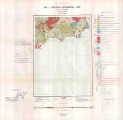 P-57-XXI (р.Наяхан). Карта полезных ископаемых СССР. Серия Магаданская