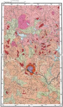 Q-36-I. Геологическая карта СССР. Кольская серия
