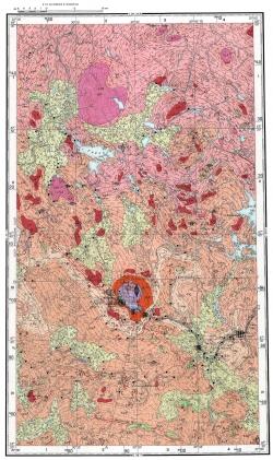 Q-36-I. Карта полезных ископаемых СССР. Кольская серия