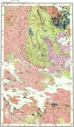 Q-36-III. Карта полезных ископаемых СССР. Серия Кольская