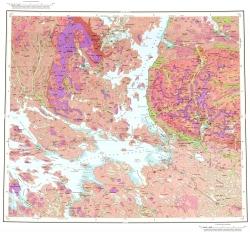 Q-36-III,IV. Геологическая карта Российской Федерации. Карта четвертичных отложений. Кольская серия