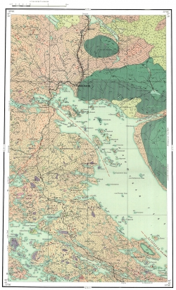 Q-36-IX. Геологическая карта СССР. Кольская серия