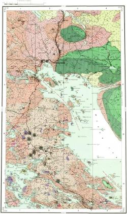 Q-36-IX. Карта полезных ископаемых СССР. Кольская серия