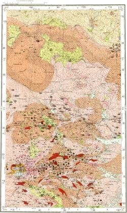 Q-36-VII. Карта полезных ископаемых СССР. Карельская серия