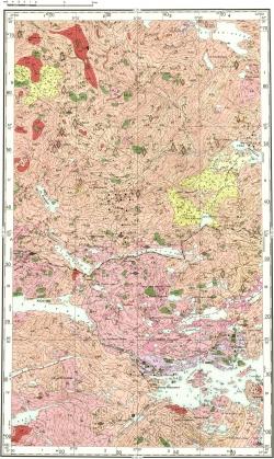 Q-36-VIII. Геологическая карта СССР. Карта полезных ископаемых. Кольская серия