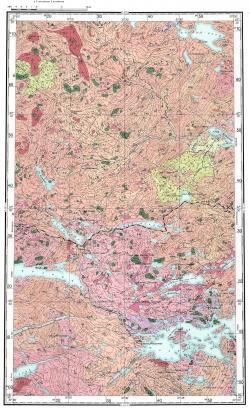 Q-36-VIII. Геологическая карта СССР. Кольская серия