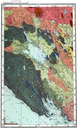Q-36-X. Геологическая карта СССР. Карта полезных ископаемых. Кольская серия