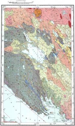 Q-36-X. Геологическая карта СССР. Кольская серия