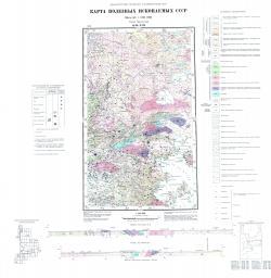 Q-36-XIII. Карта полезных ископаемых СССР. Серия Карельская.