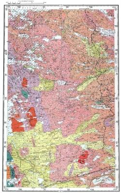 Q-36-XV. Геологическая карта СССР. Карельская серия