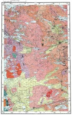 Q-36-XV. Геологическая карта СССР. Карта полезных ископаемых. Карельская серия