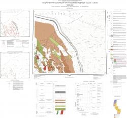Q-39-I, II (Индига). Государственная геологическая карта Российской Федерации. Издание второе. Карта полезных ископаемых и закономерностей их размещения. Тиманская серия