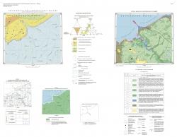 Q-39-I, II (Индига). Государственная геологическая карта Российской Федерации. Издание второе. Литологическая карта поверхности дна акватории (карта современных донных осадков). Тиманская серия