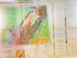 Q-40,41 (Воркута). Геологическая карта СССР (новая серия). Карта дочетвертичных отложений