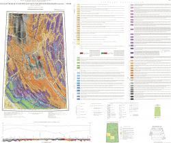 Q-52 (Верхоянские цепи). Геологическая карта. Третье поколение. Верхояно-Колымская серия. Государственная геологическая карта Российской Федерации