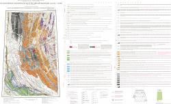 Q-52 (Верхоянские цепи). Карта закономерностей размещения и прогноза полезных ископаемых. Третье поколение. Верхояно-Колымская серия. Государственная геологическая карта Российской Федерации