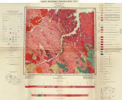 R-36-XXVII,XXVIII. Карта полезных ископаемых СССР. Серия Кольская