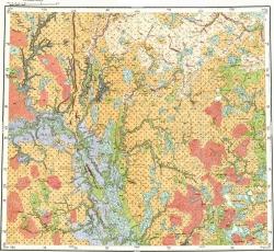 R-41-XXXIII,XXXIV. Геологическая карта СССР. Карта четвертичных отложений. Северо-Уральская серия