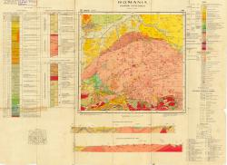 Republca socilista Romania, Harta geologica, L-34-XXIV, Orastie