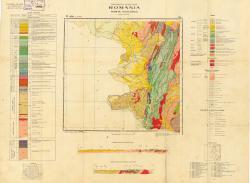 Republca socilista Romania, Harta geologica, L-34-XXVIII, Resita