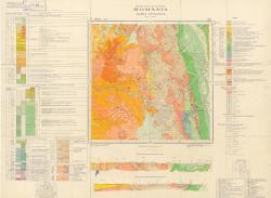 Republca socilista Romania, Harta geologica, L-35-VIII, Toplita