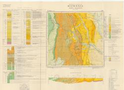Republca socilista Romania, Harta geologica, L-35-XV, Bacau