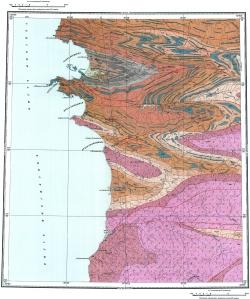 S-44-XXVII;XXVIII. Геологическая карта СССР. Таймырская серия