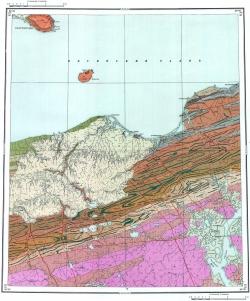 S-45-XIX;XX. Геологическая карта СССР. Таймырская серия