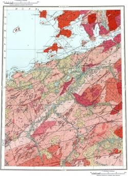 S-46-III,IV. Геологическая карта СССР. Таймырская серия