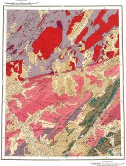 S-46-VII,VIII. Геологическая карта СССР. Таймырская серия