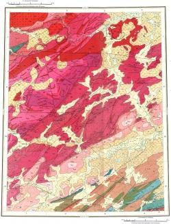 S-46-XI,XII. Геологическая карт СССР. Таймырская серия
