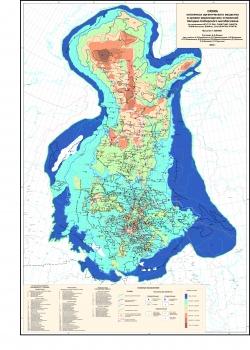 Схема катагенеза органического вещества в кровле верхнеюрских отложений Западно-Сибирского мегабассейна