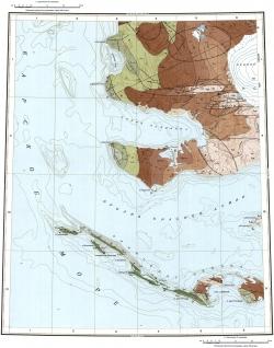 T-46-I,II,III. Геологическая карта СССР. Серия Североземельская