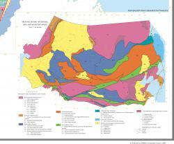 Tectonic zoning of Central Asia and adjecant areas / Тектоническое районирование Центральной Азии и прилегающих территорий